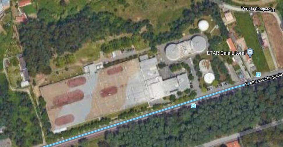 Изображение со спутника станции очистки сточных вод
